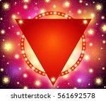 abstract shining retro light... | Shutterstock .eps vector #561692578