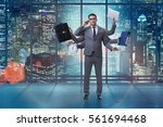 young businessman in... | Shutterstock . vector #561694468