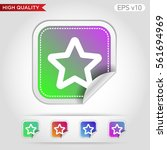 colored icon or button of star... | Shutterstock .eps vector #561694969