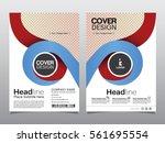 brochure  flyer  leaflet ... | Shutterstock .eps vector #561695554