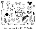 valentine day  wedding hand... | Shutterstock .eps vector #561698644