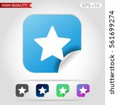 colored icon or button of star... | Shutterstock .eps vector #561699274