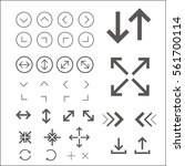 arrow.outline vector icons for... | Shutterstock .eps vector #561700114