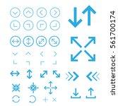 arrow.outline vector icons for... | Shutterstock .eps vector #561700174
