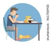vector flat design illustration ... | Shutterstock .eps vector #561700930