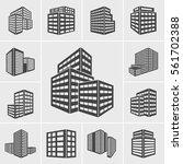 building icons vector | Shutterstock .eps vector #561702388