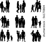silhouette of parents and... | Shutterstock .eps vector #56170804