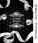 elegant vintage invitation card ... | Shutterstock .eps vector #561708628