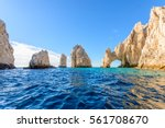 the arch point  el arco  at... | Shutterstock . vector #561708670