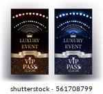 luxury event elegant vip passes.... | Shutterstock .eps vector #561708799