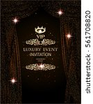 luxury event elegant background ... | Shutterstock .eps vector #561708820