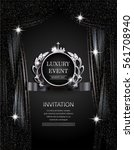 luxury event elegant  silver... | Shutterstock .eps vector #561708940
