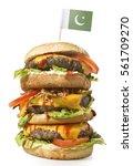 fresh and tasty xxl hamburger... | Shutterstock . vector #561709270