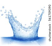 water splash in blue colors ... | Shutterstock . vector #561709390
