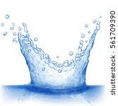 water splash in blue colors ... | Shutterstock . vector #561709390