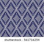crochet seamless pattern ...   Shutterstock .eps vector #561716254
