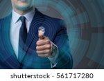 biometric identification...   Shutterstock . vector #561717280