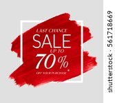 sale final up to 70  off sign... | Shutterstock .eps vector #561718669