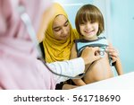 parenting and health care | Shutterstock . vector #561718690