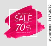 sale final up to 70  off sign... | Shutterstock .eps vector #561718780