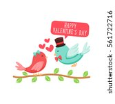 modern romantic happy valentine ... | Shutterstock .eps vector #561722716