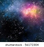 starry background of stars and  ... | Shutterstock . vector #56172304