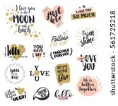 set of valentine day labels and ... | Shutterstock .eps vector #561725218