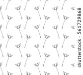 seamless pattern with flowers.... | Shutterstock .eps vector #561729868