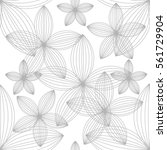 seamless pattern with flowers.... | Shutterstock .eps vector #561729904