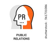 public relations icon. | Shutterstock .eps vector #561731086