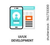 ui ux development. | Shutterstock .eps vector #561733300