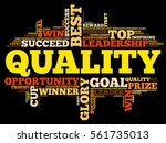quality word cloud  business... | Shutterstock .eps vector #561735013