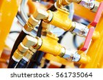 hydraulic pressure pipes and... | Shutterstock . vector #561735064