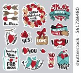 set of valentine day stickers... | Shutterstock .eps vector #561736480