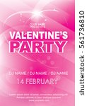 night party poster template ... | Shutterstock .eps vector #561736810