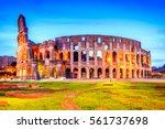 rome  italy. colosseum ... | Shutterstock . vector #561737698