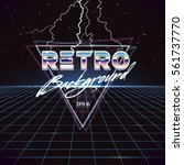 80s retro sci fi background... | Shutterstock .eps vector #561737770