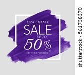 sale final up to 50  off sign... | Shutterstock .eps vector #561738370