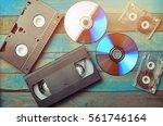 audio cassettes  cassettes...   Shutterstock . vector #561746164