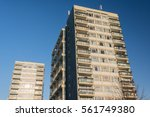 two high rise blocks of council ... | Shutterstock . vector #561749380