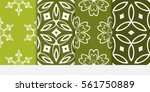 set of floral geometric lace... | Shutterstock .eps vector #561750889
