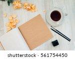 a blank craft album sheet... | Shutterstock . vector #561754450