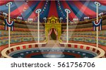 circus ring carnival tent big... | Shutterstock .eps vector #561756706