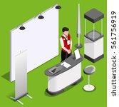 exhibition booth mockup demo... | Shutterstock .eps vector #561756919