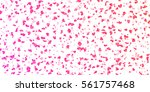 valentines pink hearts confetti ... | Shutterstock .eps vector #561757468