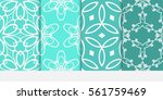 set of floral geometric lace... | Shutterstock .eps vector #561759469