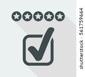 rating vote icon | Shutterstock .eps vector #561759664