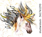 Unicorn. Animal Head Print For...