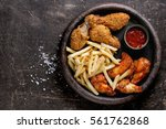fast food fried crispy and... | Shutterstock . vector #561762868
