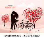 valentine's day background with ... | Shutterstock .eps vector #561764500